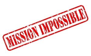 Mission impossible red stamp text